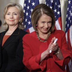 House Speaker Nancy Pelosi hosts a Women's History Month Celebration in honor of Secretary of State Hillary Clinton