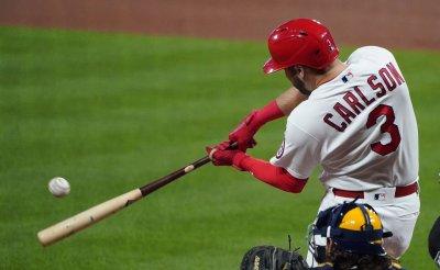 St. Louis Cardinals Dylan Carlson Hits Two Run Home Run