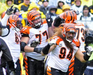 Bengals Andrew Whitworth Celebrates Touchdown in Pittsburgh