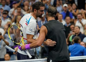 Rafael Nadal, of Spain, wins at the US Open