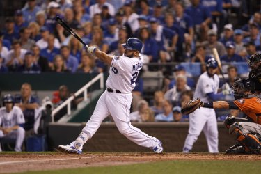 Royals' Kendrys Morales hits a home run against the Astros