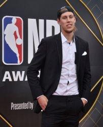 Kelly Olynyk attends the 2019 NBA Awards in Santa, Monica, California