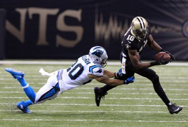 New Orleans Saints wide receiver Brandon Coleman picks up 18 yards