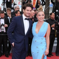 Francois Civil and Florence Pugh attend the Cannes Film Festival
