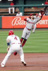 Cincinnati Reds Jonathan India Makes Leaping Catch
