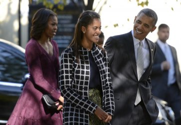 President Obama and Family Attend Church in Washington