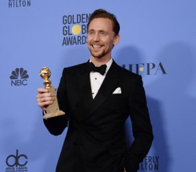 Tom Hiddleston wins award at the 74th annual Golden Globe Awards in Beverly Hills