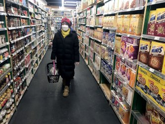 A popular Western grocery store is virtually empty in Beijing, China