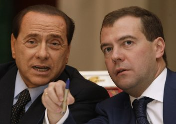 Russian President Medvedev meets with Italian Prime Minister Berlusconi  in Moscow