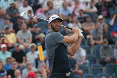 Dustin Johnson tees off at 147th Open Golf Championships