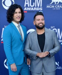 Dan Smyers and Shay Mooney attend the Academy of Country Music Awards in Las Vegas