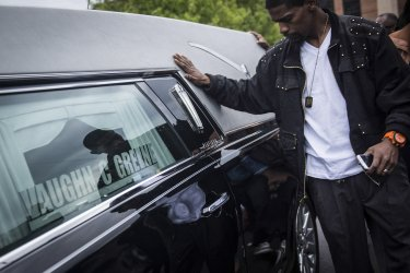 Freddy Gray Funeral in Baltimore, Maryland