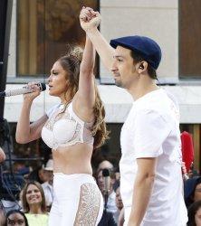 Jennifer Lopez and Lin-Manuel Miranda on NBC Today