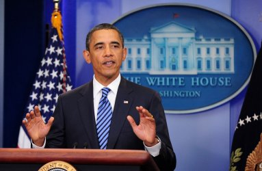 President Obama delivers a statement to the press in Washington
