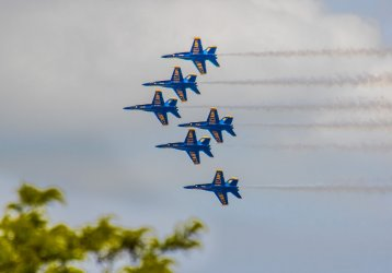 Blue Angels Fly Over Indy to Salute Frontline Workers