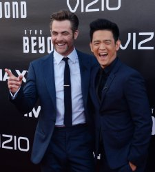 "Chris Pine and John Cho attend the ""Star Trek Beyond"" premiere in San Diego"