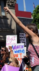 "Demonstrators protest ""war on women's rights"" in Los Angeles"
