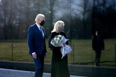 President Joe Biden and First Lady Visit the Vietnam War Memorial