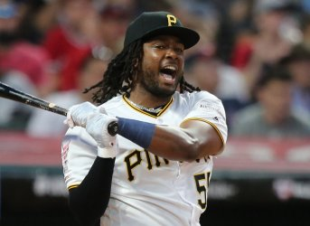 Pirates' Josh Bell during the MLB All-Star Home Run Derby in Cleveland, Ohio