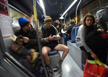 Israelis Ride The Jerusalem Light Rail Without Pants on No Pants Subway Ride