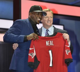 Atlanta Falcons select Keanu Neal at NFL Draft in Chicago