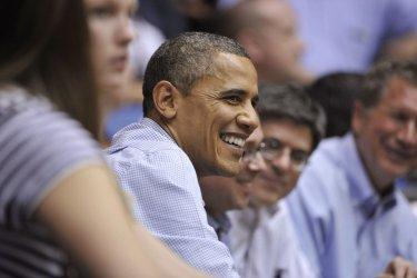 Obama Watches NCAA Tournament in Dayton, Ohio