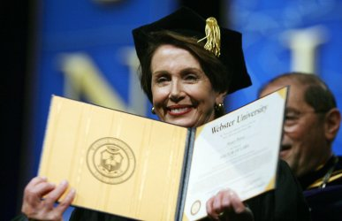 U.S. SPEAKER OF THE HOUSE PELOSI RECEIVES DOCTOR OF LAWS DEGREE