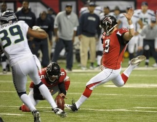 The Atlanta Falcons play the Seattle Seahawks in a Divisional playoff in Atlanta