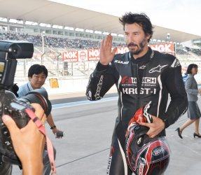 Keanu Reeves ride at Suzuka Circuit