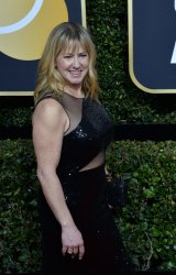 Tonya Harding attends the 75th annual Golden Globe Awards in Beverly Hills