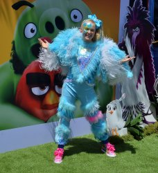 """JoJo Siwa attends """"The Angry Birds Movie 2"""" premiere in Los Angeles."""