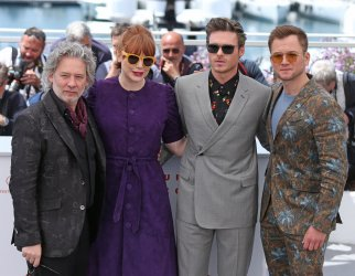 Fletcher, Howard, Madden and Egerton attend the Cannes Film Festival