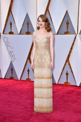Emma Stone arrives for the 89th annual Academy Awards in Hollywood