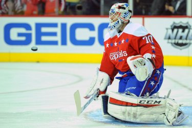 Holtby Warms Up