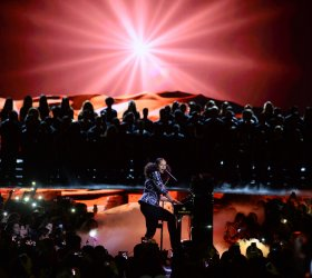 Alicia Keys performs at We Day California in Inglewood
