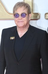 Elton John attends the premiere of Kingsman: The Golden Circle in London.