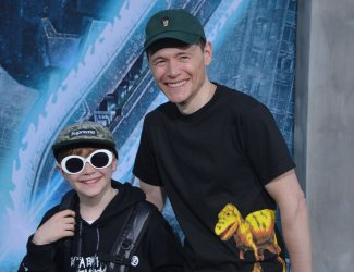 """Burn Gorman and Max Gorman attend the """"Pacific Rim Uprising"""" premiere in Los Angeles"""