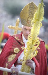 Pope Benedict XVI attends Palm Sunday celebration at the Vatican