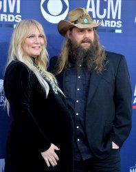 Morgane Stapleton and Chris Stapleton attend the Academy of Country Music Awards in Las Vegas