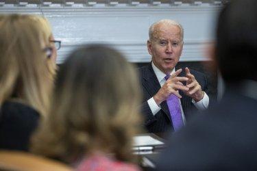 President Joe Biden Meets With FEMA Administrator Deanne Criswell