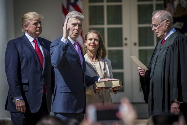 Neil Gorsuch Sworn In As Associate Justice on The U.S. Supreme Court.