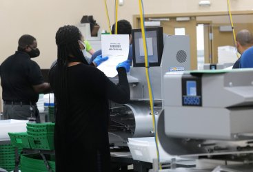 Early Voting and Mail in Ballot Counting in Broward County, Florida