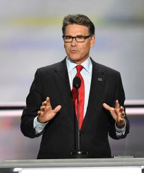 Rick Perry speaking at the Republican National Convention in Cleveland