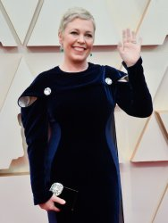 Olivia Colman arrives for the 92nd annual Academy Awards in Los Angeles