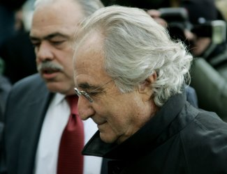 Ponzi-scheme financier Bernard Madoff appears in court in New York