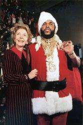 Nancy Reagan and Mr. T.