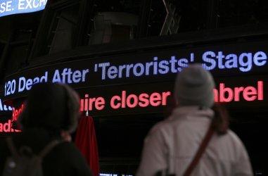 NYPD presence in Times Square due to Paris terrorist attacks