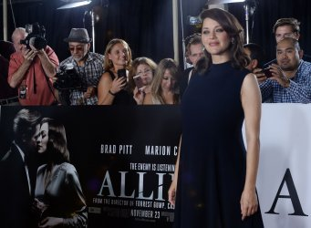 """Marion Cotillard attends the """"Allied"""" premiere in Los Angeles"""