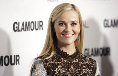 Reese Witherspoon arrives at Glamour Woman of the Year Awards