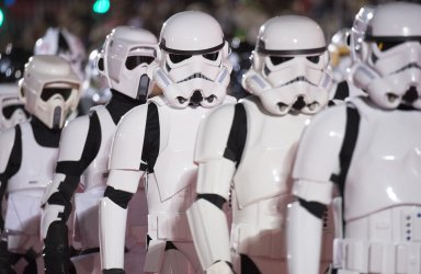 """Characters from """"Star Wars"""" march in the 84th Annual Hollywood Christmas Parade in Los Angeles"""